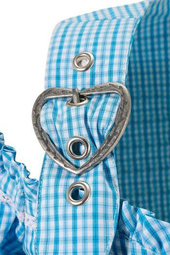 Spieth & Wensky Feierlaune Trachtencarmenbluse mit Schnürung im Rückenteil