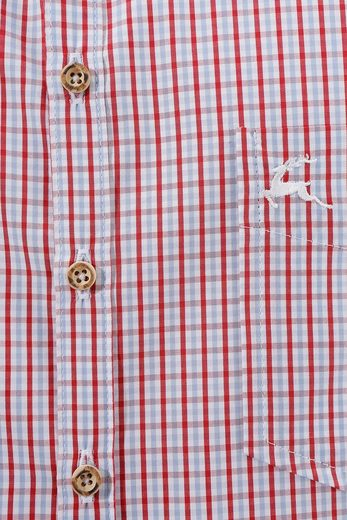 OS-Trachten Trachtenhemd mit Knöpfe in Hirschhornoptik