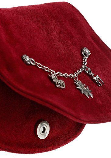 KABE Leder-Accessoires Trachtentasche mit Zierkette