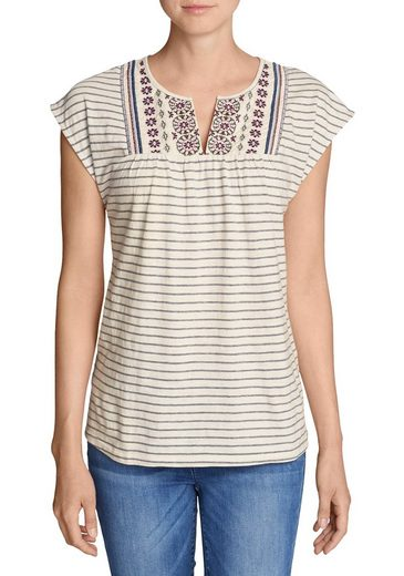 Eddie Bauer Laurel Canyon Besticktes Shirt - Gestreift