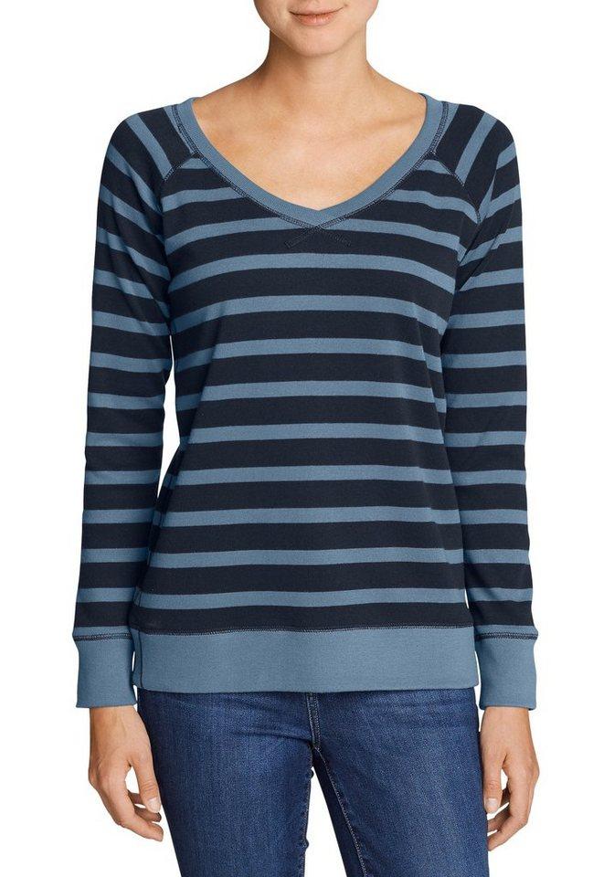 eddie bauer sweatshirt legend wash sweatshirt mit v ausschnitt gestreift online kaufen otto. Black Bedroom Furniture Sets. Home Design Ideas