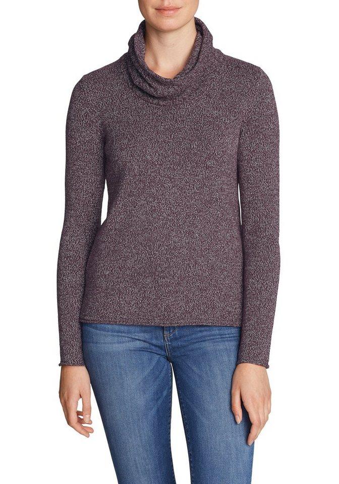 Damen Eddie Bauer  Strickpullover Pullover mit Wasserfallausschnitt  | 04057682115412