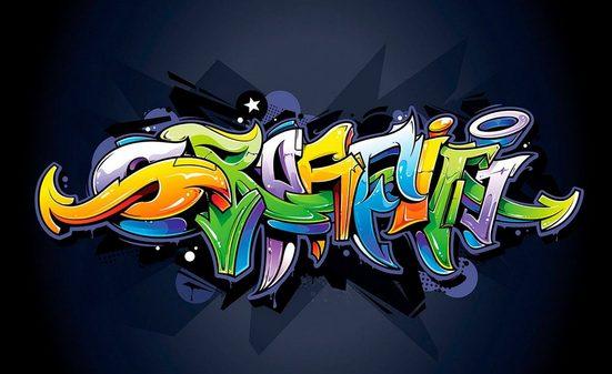 CONSALNET Vliestapete »Buntes Graffiti«, verschiedene Motivgrößen
