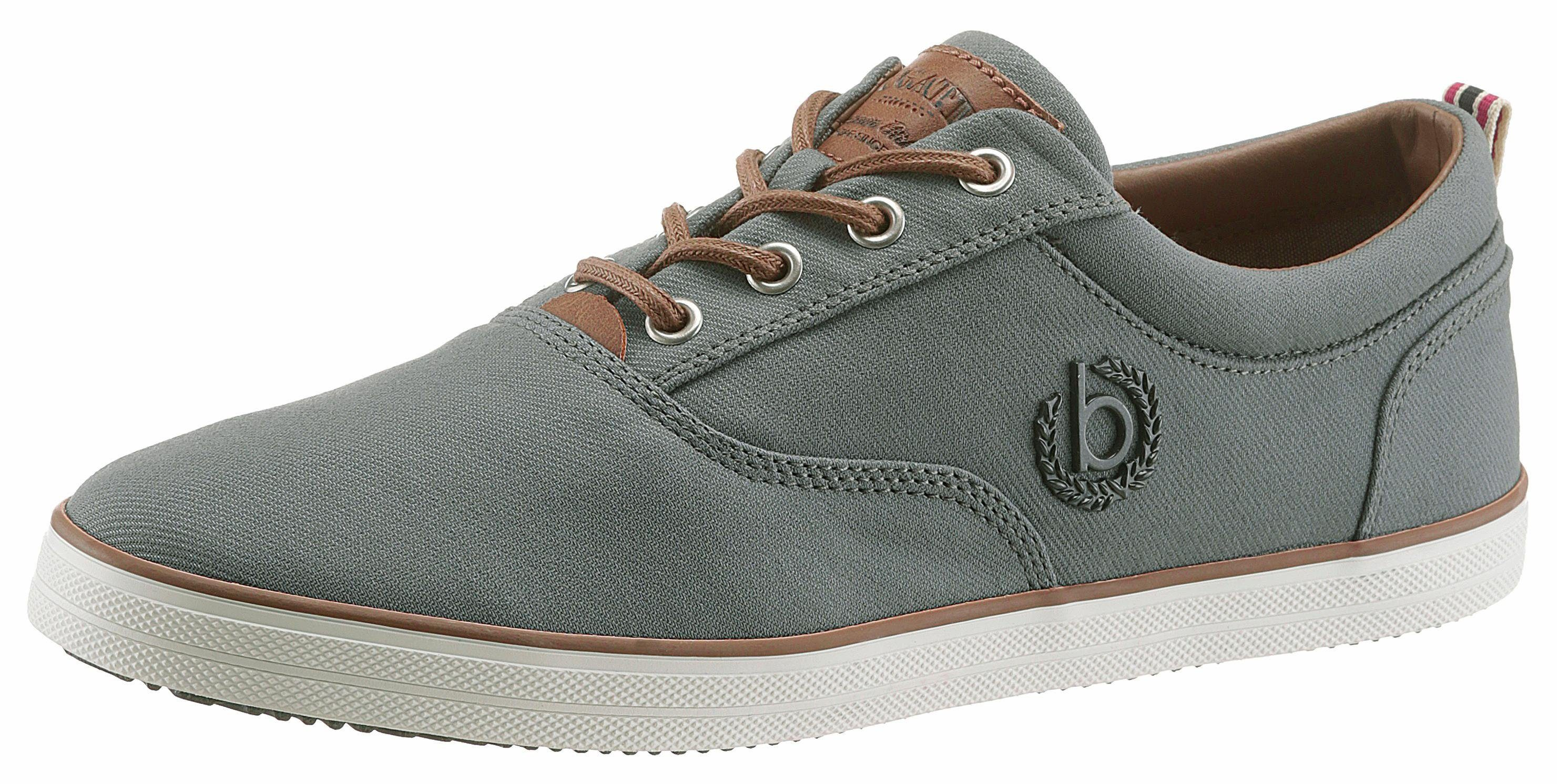 s.Oliver RED LABEL Sneaker, mit coolem Logopatch, grau, 43 43