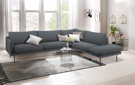 andas Ecksofa »Mavis«, mit Ottomane und losen Sitz- und Rückenkissen, skandinavischer Stil