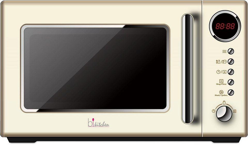 bkitchen retro mikrowelle cook 815 20 liter garraum 700 watt beige online kaufen otto. Black Bedroom Furniture Sets. Home Design Ideas