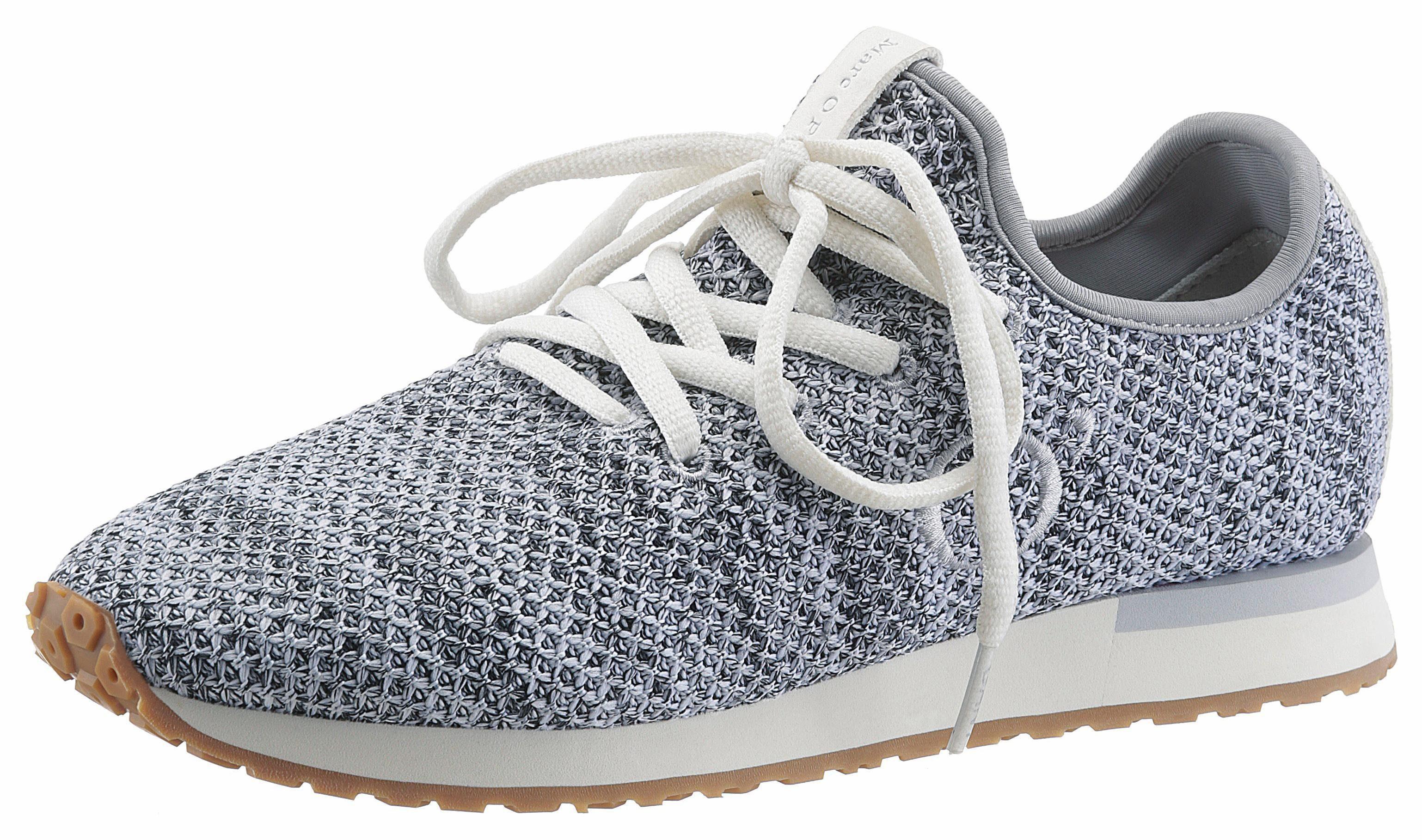 Marc O'Polo Slip-On Sneaker, in angesagter Strickoptik online kaufen  grau