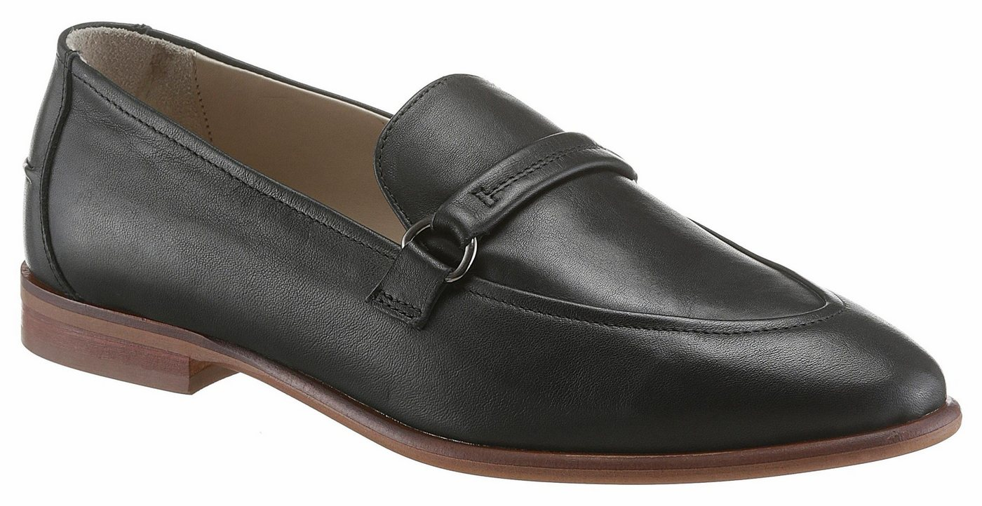 Damen Marc O Polo Slipper in schlichter Optik schwarz | 04045962721347