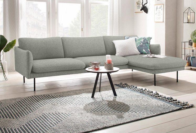 andas Ecksofa »Mavis«, mit Chaiselonge, mit losen Sitz- und Rückenkissen, skandinavischer Stil