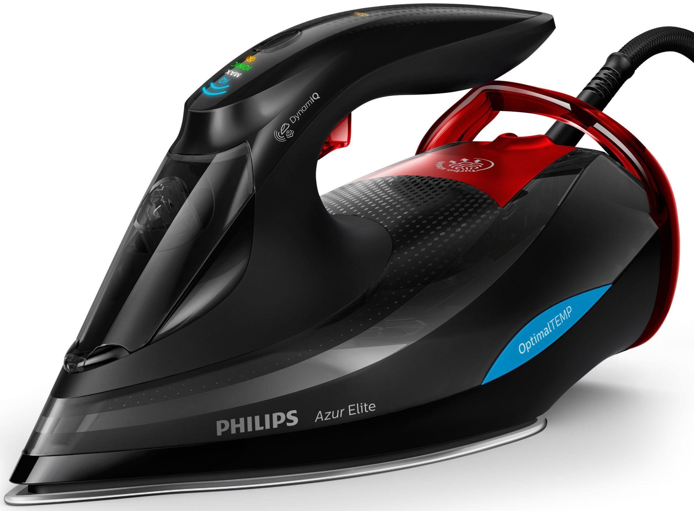 Philips Bügeleisen GC5037/80 Azur Elite, SteamGlide Advances Bügelsohle, 300 Watt
