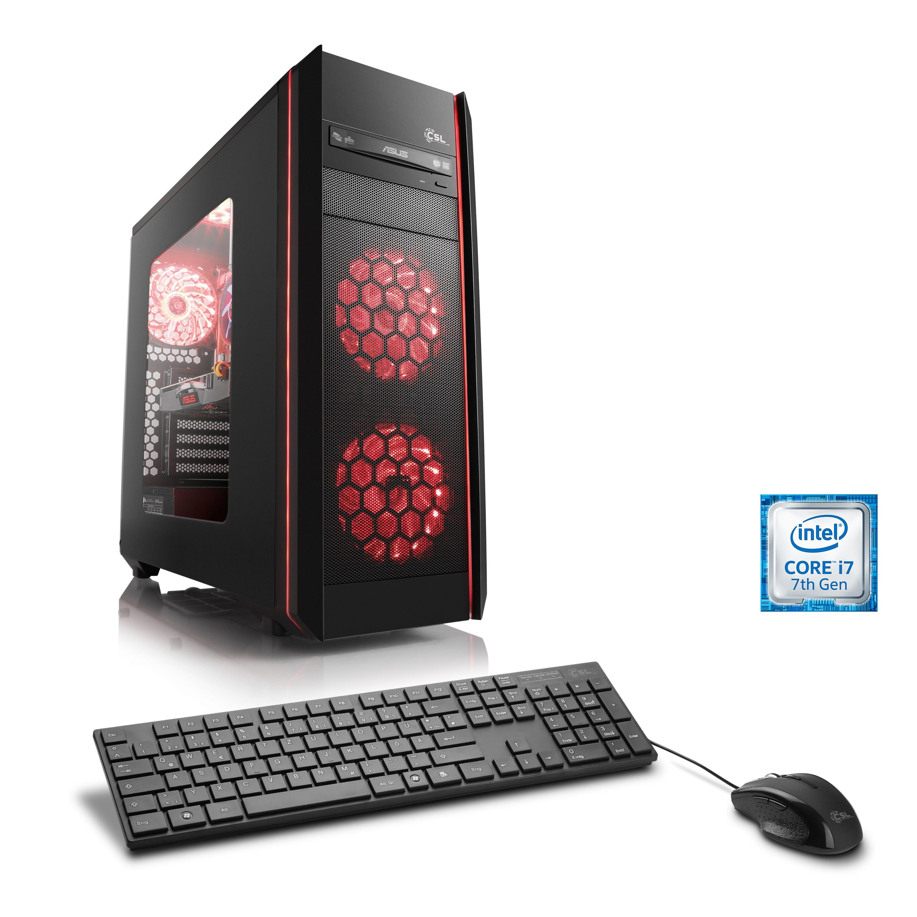 CSL Gaming PC | Intel Core i7-7700 | GTX 1060 | 16 GB DDR4 | SSD »Speed T9661 Powered by ASUS«