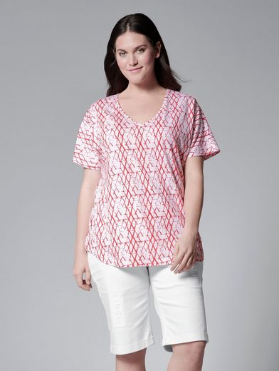 Janet Und Joyce By Happy Size Shirt In Oversize-form