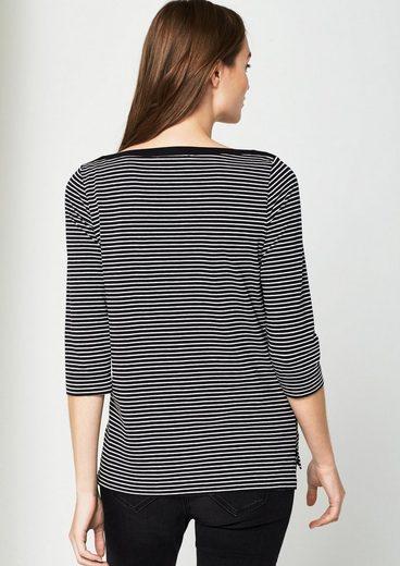 COMMA Jerseyshirt mit Streifenmuster