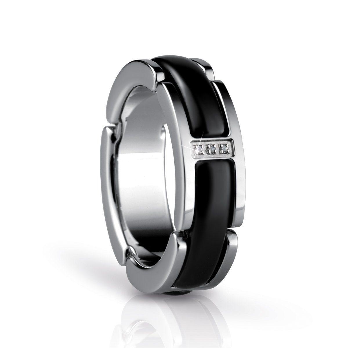 Bering Bering Time Ring silber-schwarz 55mm