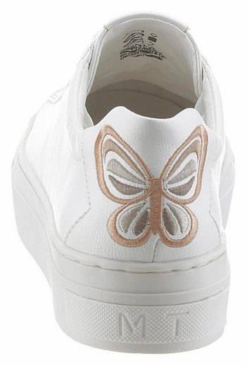 Marco Tozzi Sneaker With Schmertterlings-embroidery On The Heel