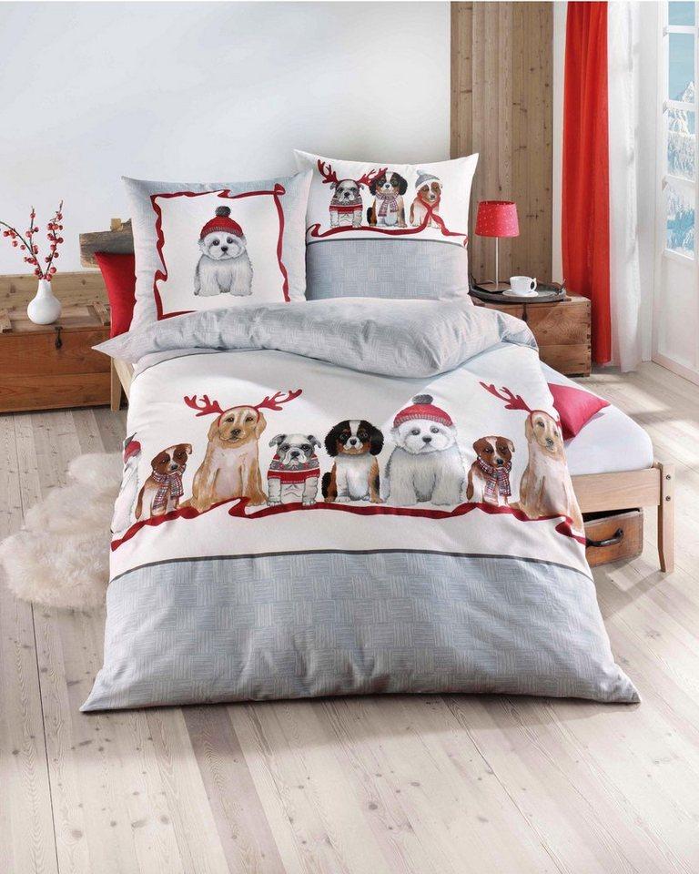 bettw sche kaeppel dogs mit verschiedenen hunde motiven online kaufen otto. Black Bedroom Furniture Sets. Home Design Ideas