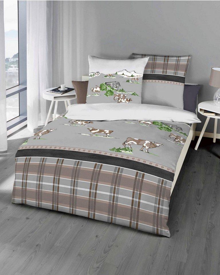 bettw sche kaeppel alm mit kindlichen alm motiven. Black Bedroom Furniture Sets. Home Design Ideas