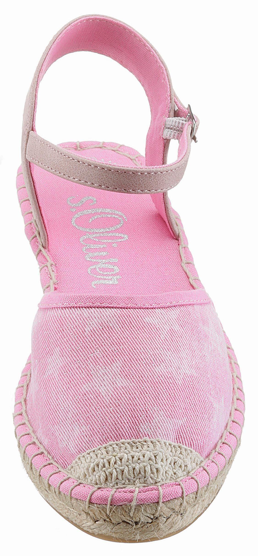 sOliver RED LABEL Espadrille, mit modischem Sternenprint online kaufen  pink