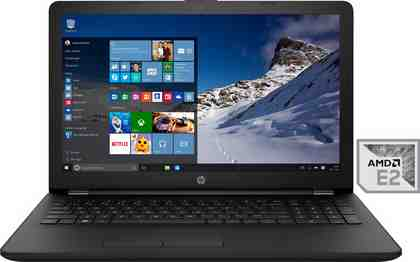 HP 15-bw053ng Notebook, AMD Dual Core E-2, 39,6 cm (15,6 Zoll), 500 GB Speicher, 4096 MB DDR4-SDRAM
