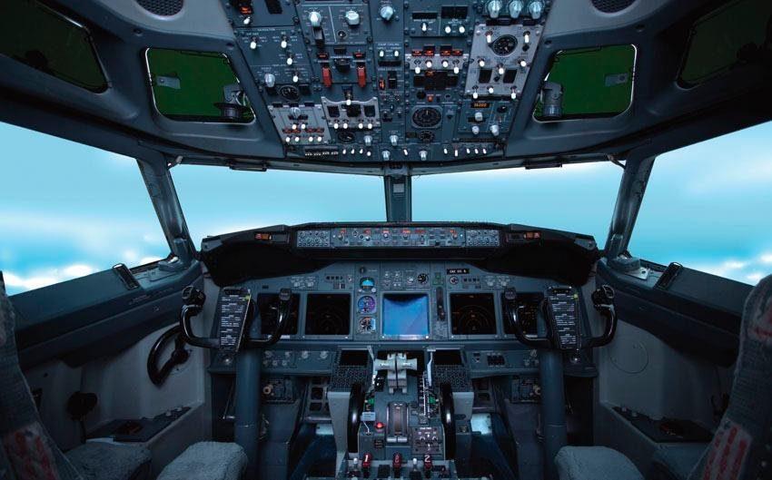 Fototapete, Rasch, »Cockpit«