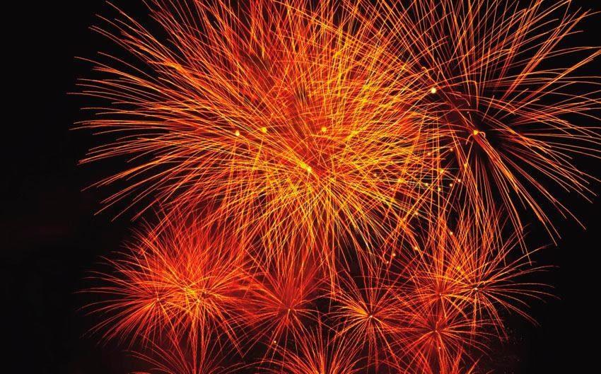 Fototapete, Rasch, »Feuerwerk«
