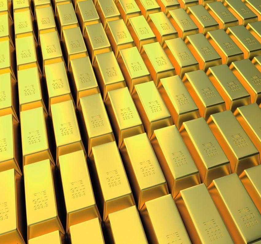 Fototapete, Rasch, »Goldbarren«
