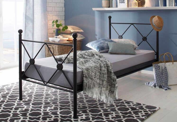 Home affaire Metallbett »Jenny«, in verschiedenen, Breiten, schwarz oder weiß lackiert
