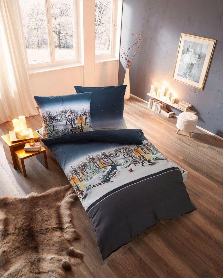 bettw sche kaeppel central park mit winterlicher parklandschaft online kaufen otto. Black Bedroom Furniture Sets. Home Design Ideas