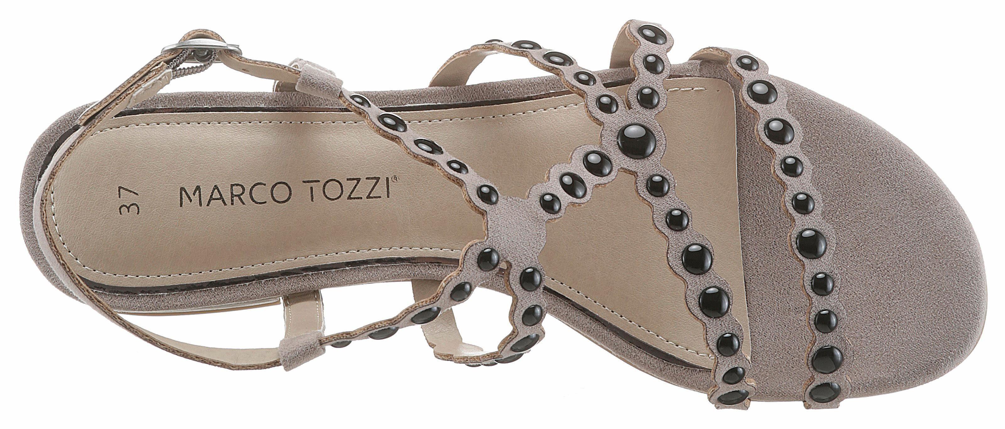 Marco Tozzi Riemchensandalette, mit markanten Nieten online kaufen  taupe