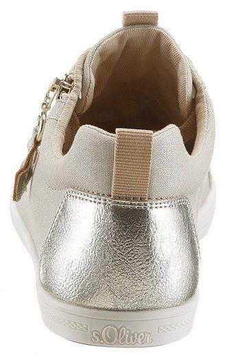 oliver Außen Zierreißverschluss Mit Champagner S Red Label Sneaker hsQtrd