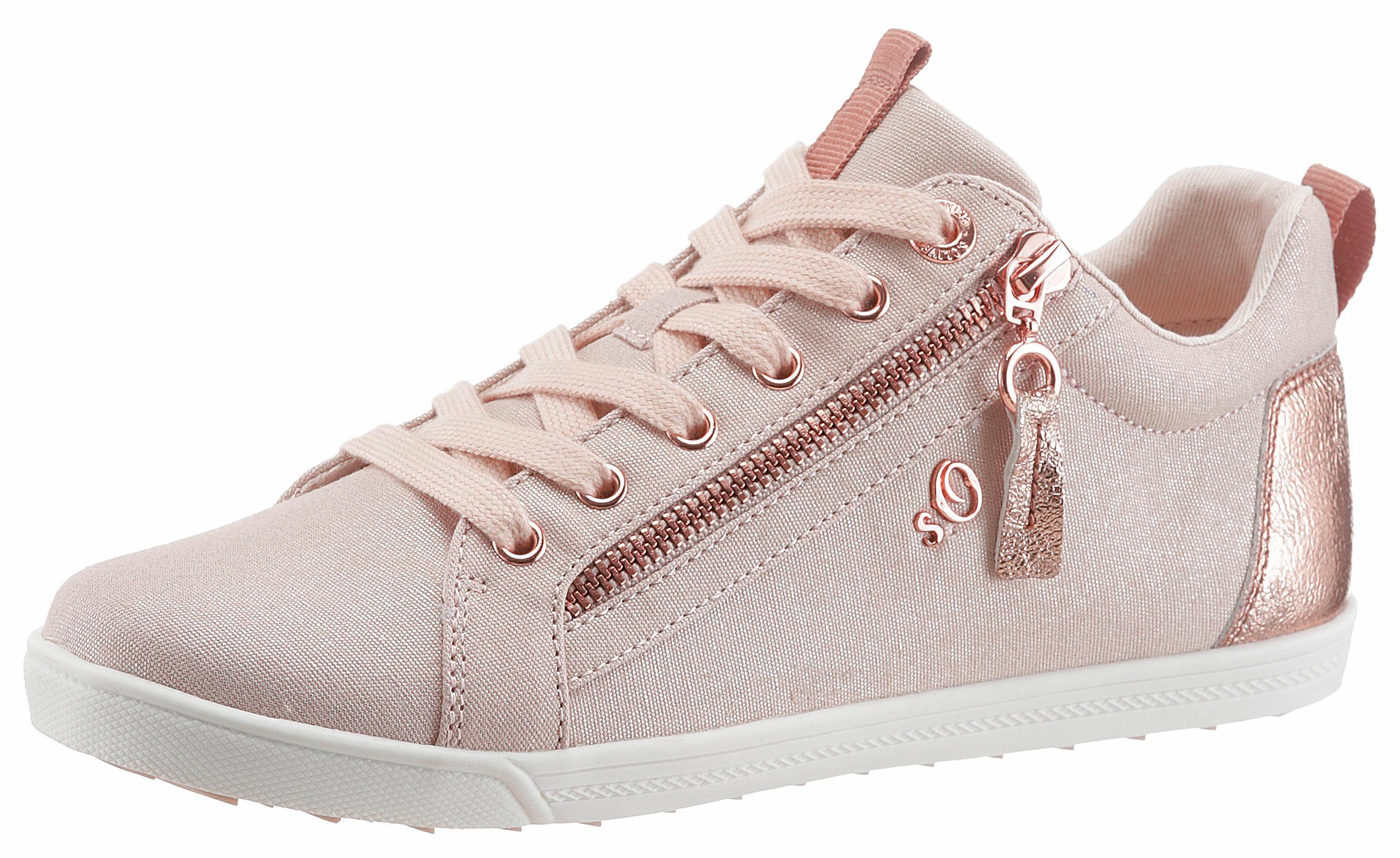 sOliver RED LABEL Sneaker, mit Zierreißverschluss außen online kaufen  rosé