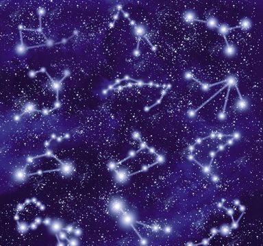 Fototapete »Sternbilder«, mehrfarbig, grafisch, FSC®