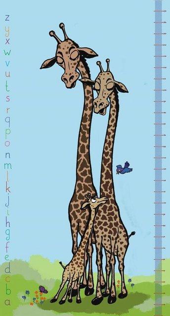 Fototapete Rasch  Maßband Giraffe bunt,mehrfarbig | 04000441892550