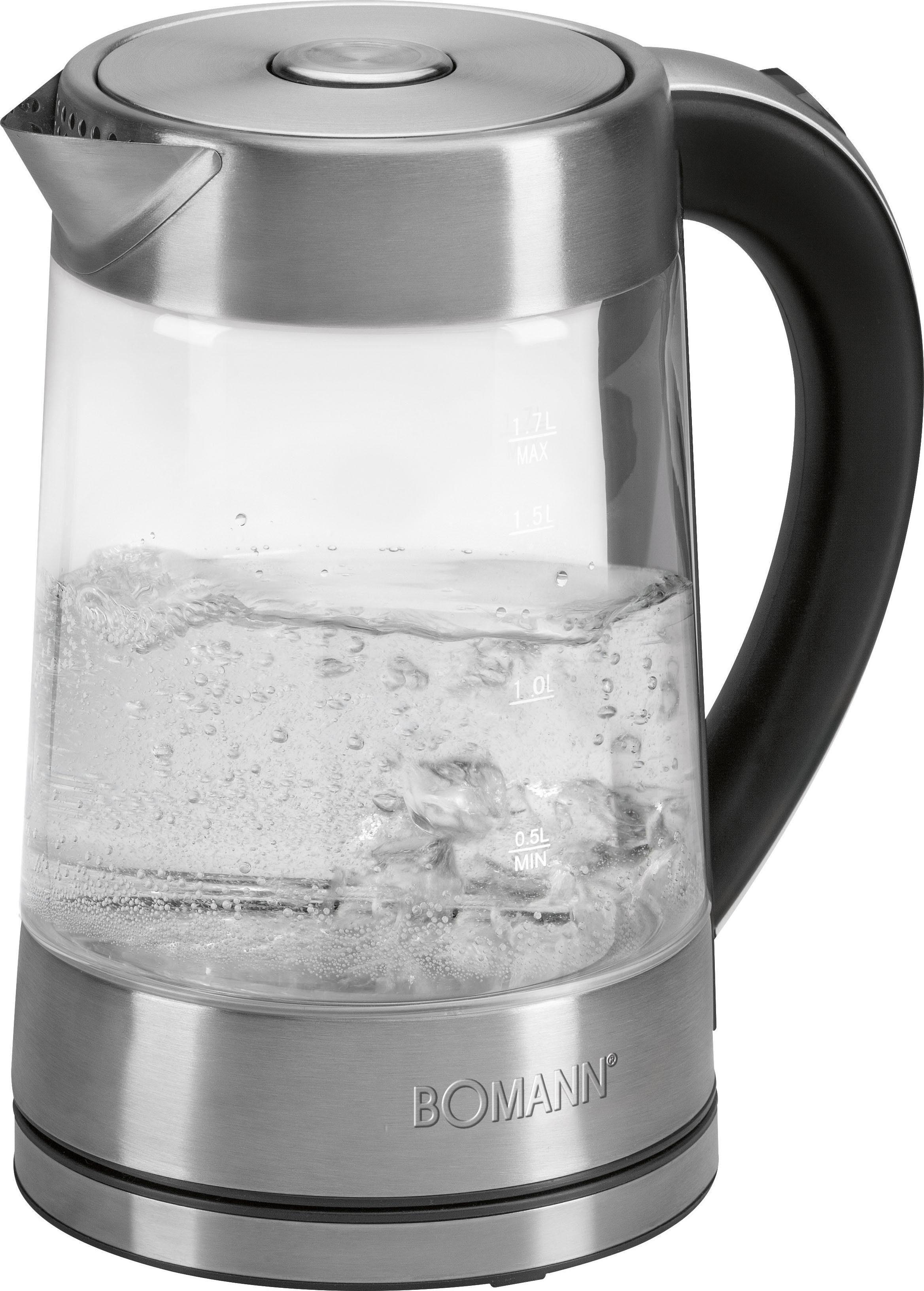 BOMANN Wasserkocher WK5023GCB, 1,7 l, 2200 W