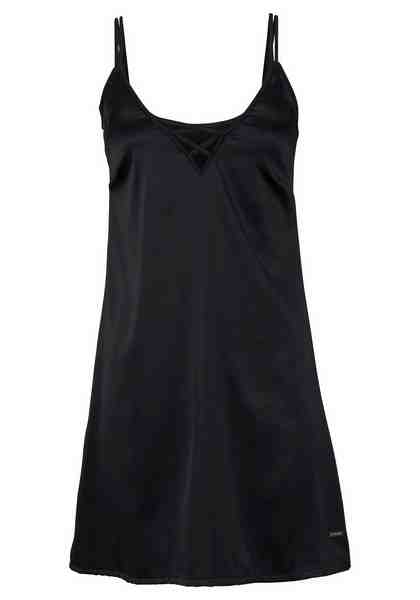 LASCANA Kurzes Slip Dress mit Zierschnürung im Ausschnitt