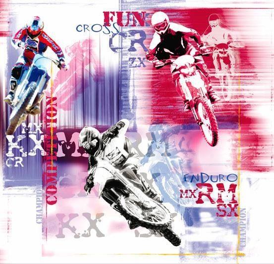 Doe-het-zelf Fototapete Enduro Motorbike Racing   Vliestapete Tapete