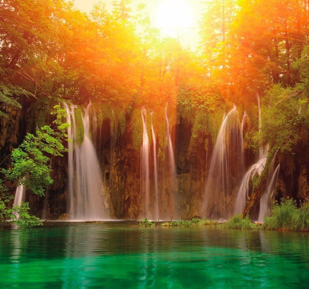 Fototapete »Lagune«, mehrfarbig, Qualitätshinweise: FSC® RAL-Gütezeichen