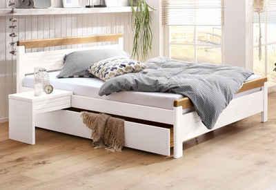 Bett weiß holz  Massivholzbetten kaufen » Holzbetten Buche & Eiche | OTTO