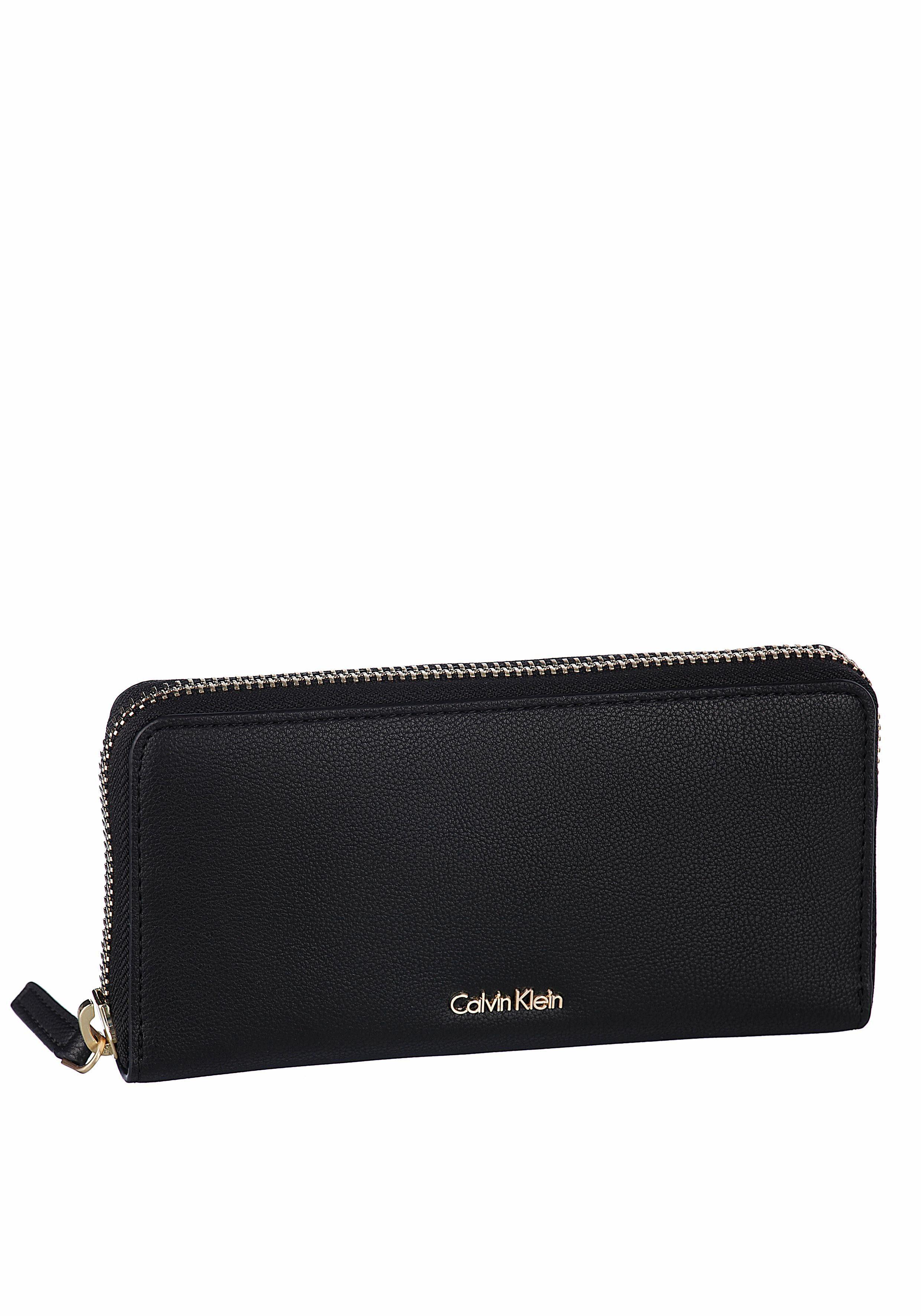 Calvin Klein Geldbörse »NATASHA LARGE ZIPAROUND«, in schlichter Optik