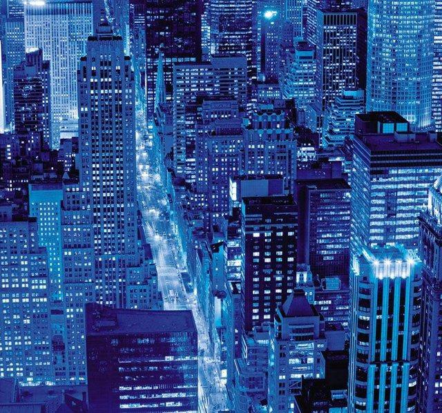 Fototapete Rasch  Stadt_bei_Nacht bunt,mehrfarbig | 04000441843507