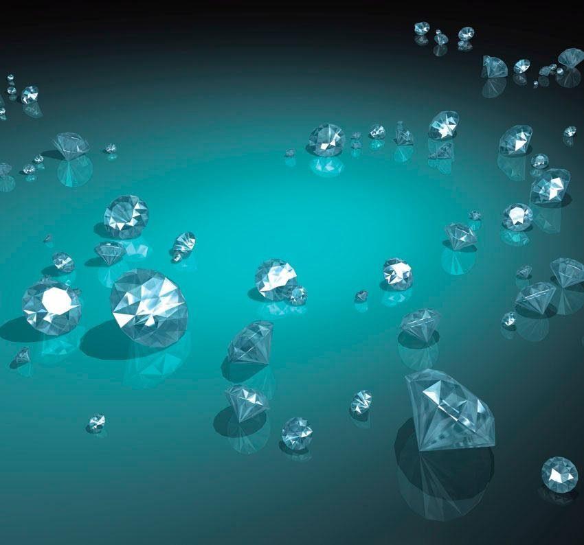 Fototapete, Rasch, »Diamanten«