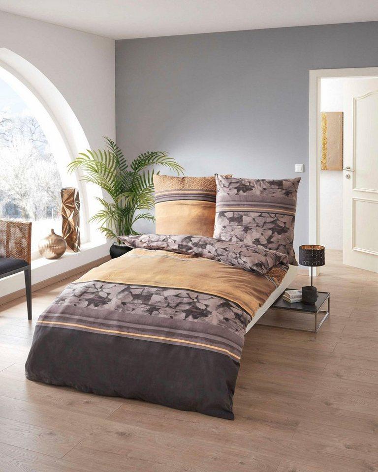 bettw sche kaeppel jane mit angedeuteten bl ten online kaufen otto. Black Bedroom Furniture Sets. Home Design Ideas