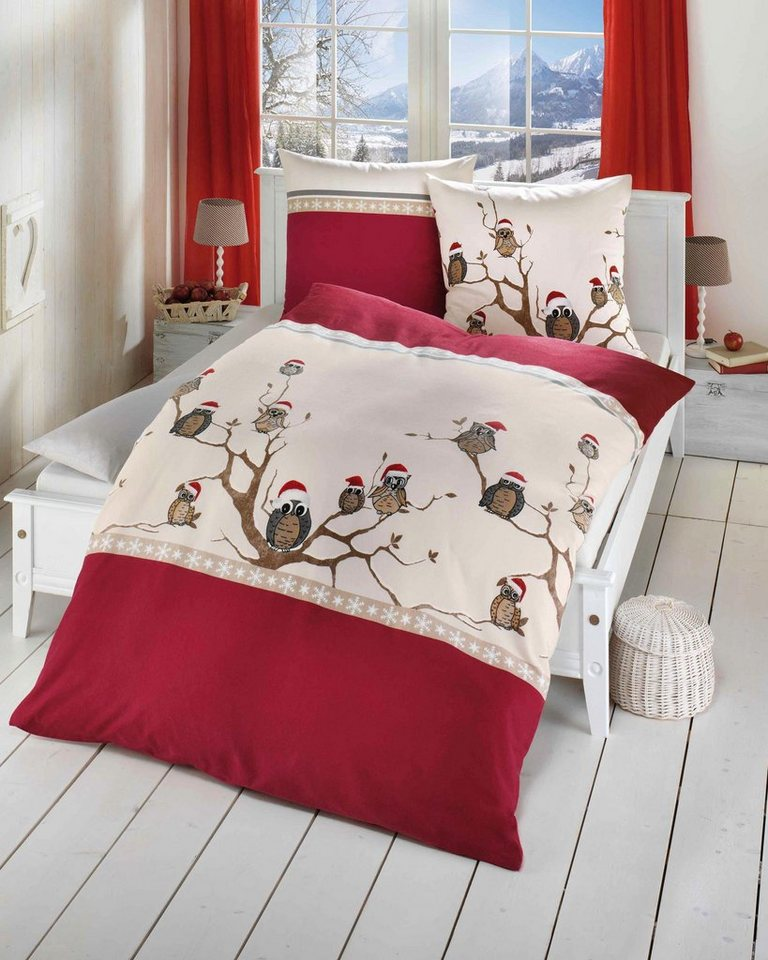 bettw sche kaeppel wintereule mit veschiedenen eulen versehen online kaufen otto. Black Bedroom Furniture Sets. Home Design Ideas