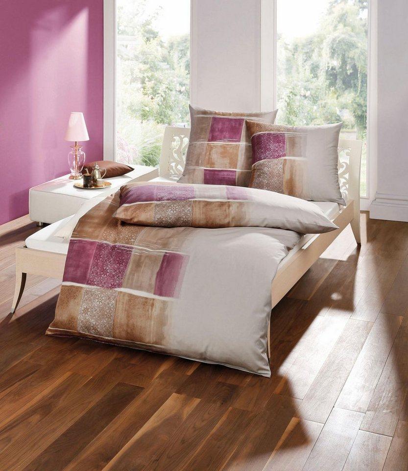 bettw sche kaeppel zaida mit gro en vierecken ausgestatter online kaufen otto. Black Bedroom Furniture Sets. Home Design Ideas