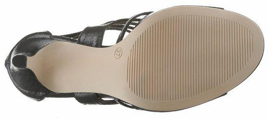Red Sandalette Praktischem Label S Mit oliver Fersenreißverschluss 7wFqxa