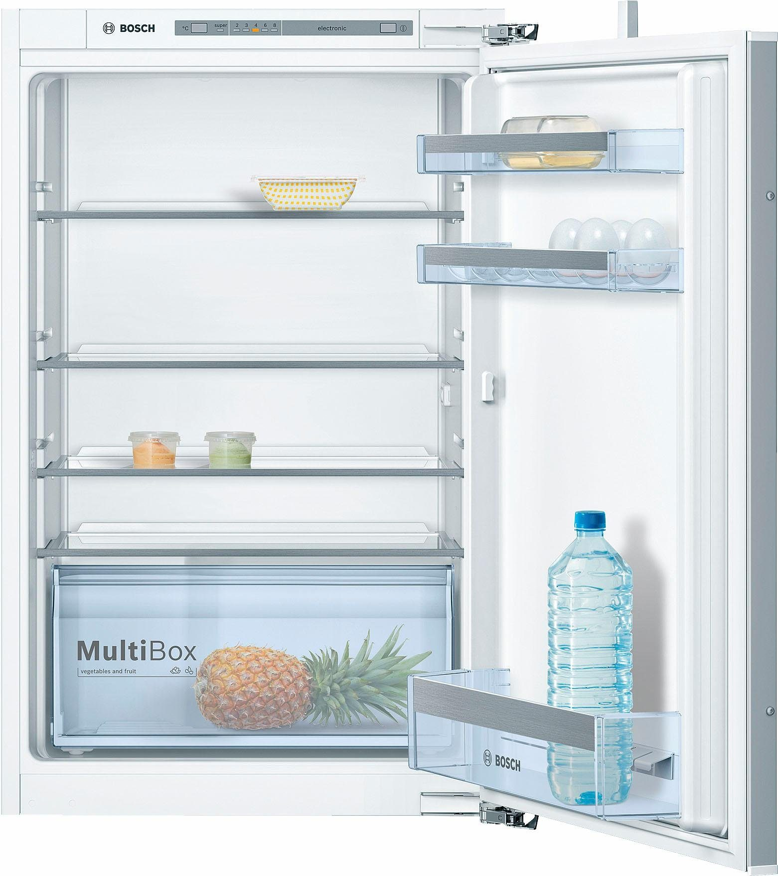 BOSCH Einbaukühlschrank KIR21VF30, 87,4 cm hoch, 54,1 cm breit, Energieklasse A++, 88 cm hoch, FreshSense