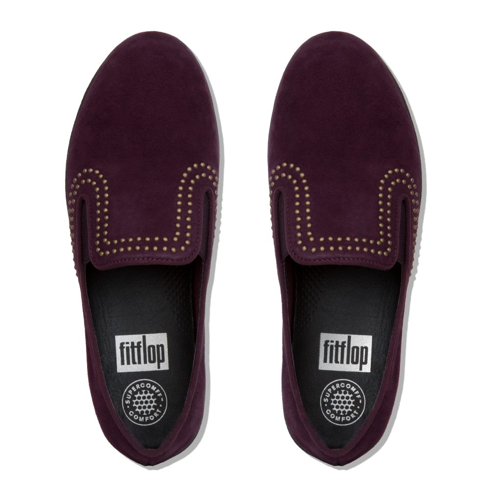Fitflop »SUPERSKATE WITH STUDS Slipper kaufen  pflaume