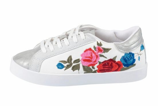 Heine Sneaker With Floral Embroidery