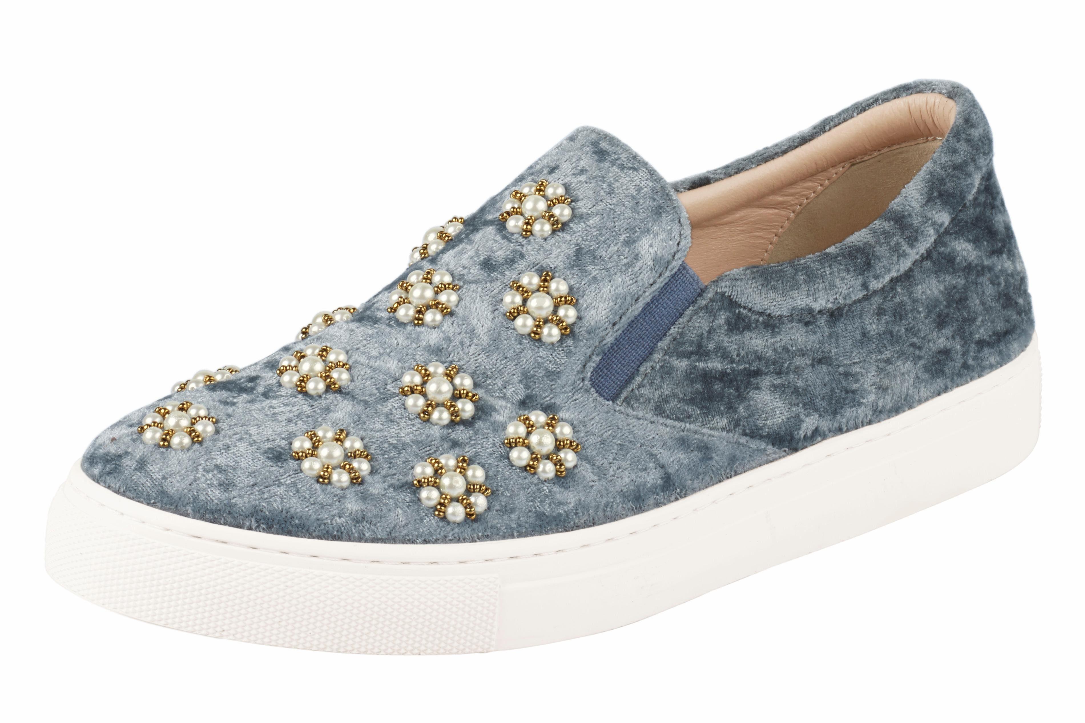 XYXYX Slipper mit Schmucksteinen online kaufen  jeansblau