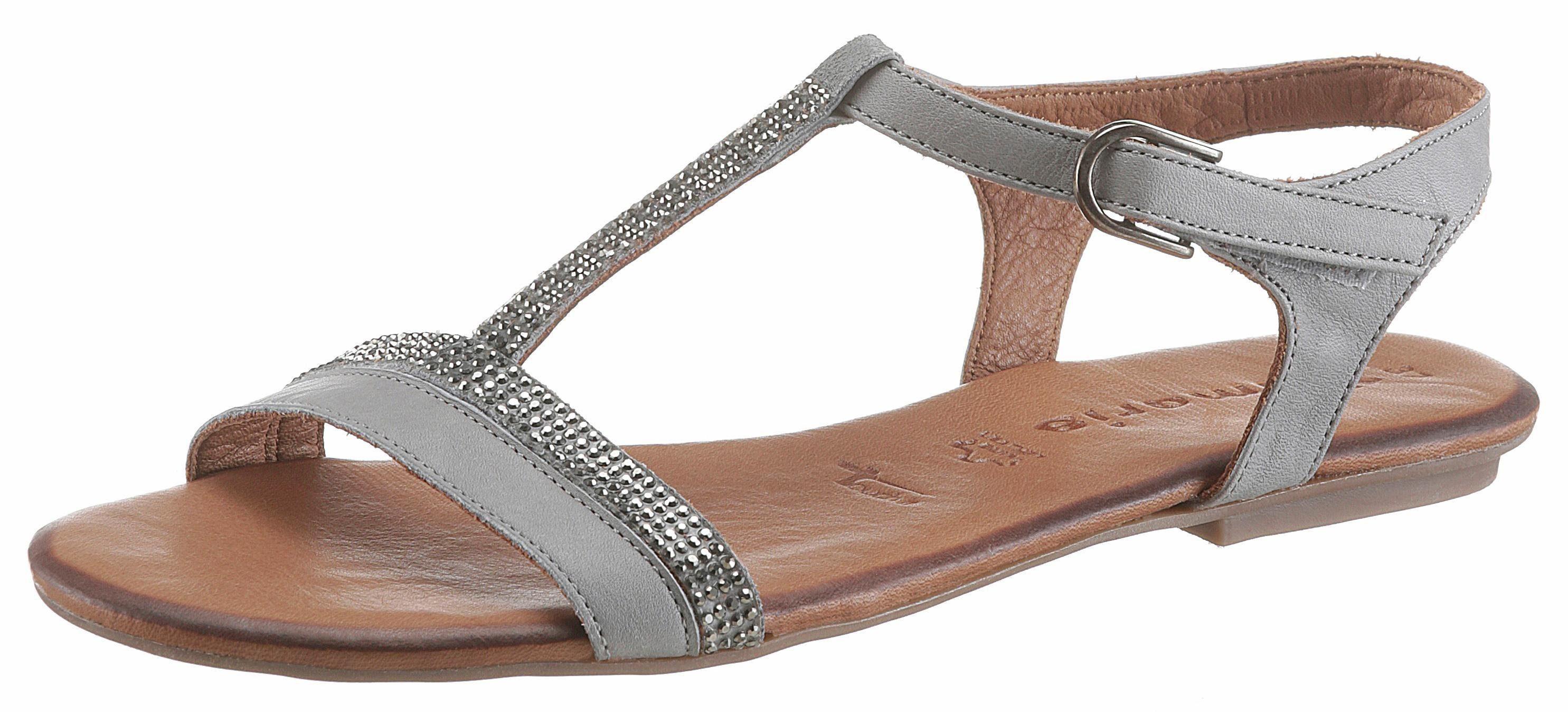 Tamaris Sandale, mit Nieten, grau, grau